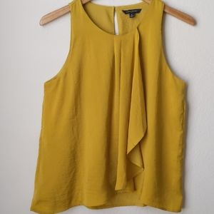 Banana Republic Yellow Sleeveless Blouse, S